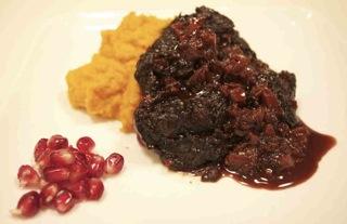 Grassfed Pomegranate Braised Beef Cheek